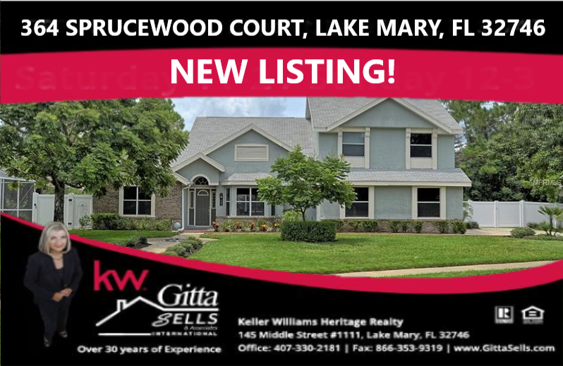 364 Sprucewood Court, Lake Mary, Florida 32746 Lake Mary Woods Home for Sale | Gitta Sells & Associates