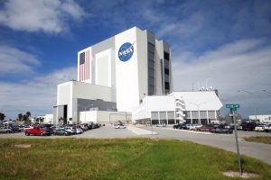 Vehicle Assembly Building at the Kennedy Space Center in Titusville FL